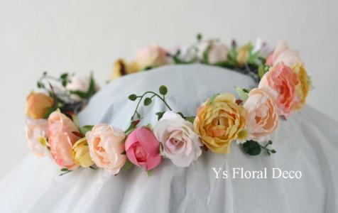 ディズニーアンバサダーホテルの新婦さんへ カラフルな花冠_b0113510_2320170.jpg