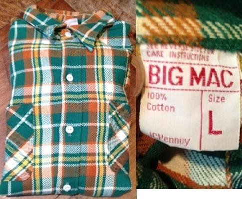 9月29日(土)入荷商品!追加分#7 BIGMACネルシャツ 色々・・。_c0144020_18204080.jpg