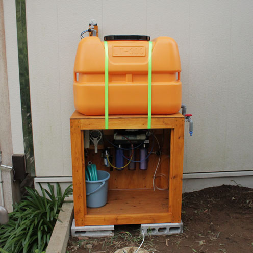 貯水タンク設置。_d0221436_19545071.jpg