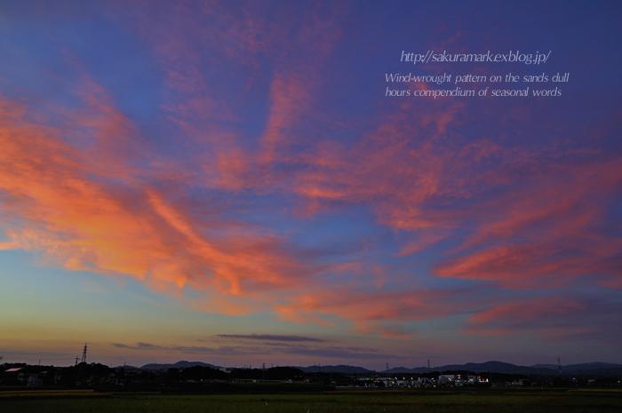 秋の夕空Ⅱ_f0235723_18265618.jpg