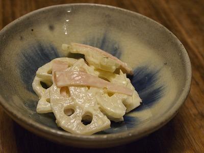 れんこんの柚子こしょうマヨ和え_e0288841_2042554.jpg