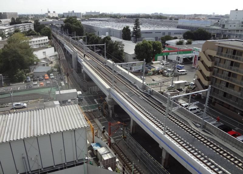 拝島線府中街道交差部、上りも高架に_f0059673_2345435.jpg