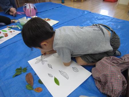 落ち葉を描こう〜松井山手教室☆_f0215199_23153618.jpg