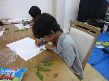 落ち葉を描こう〜松井山手教室☆_f0215199_23432472.jpg