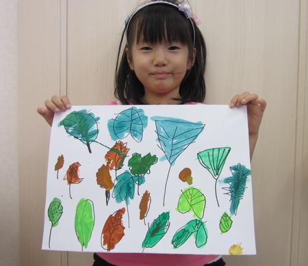 落ち葉を描こう〜松井山手教室☆_f0215199_0362196.jpg