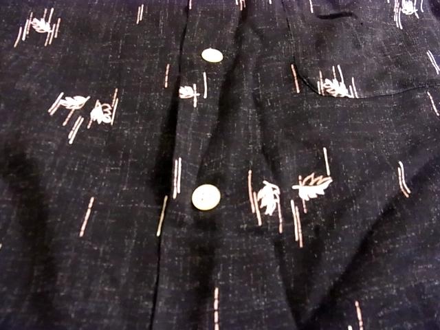 9月29日(土)入荷商品!追加分#15 50\'S オープンカラーシャツ! ブラック!_c0144020_1883680.jpg
