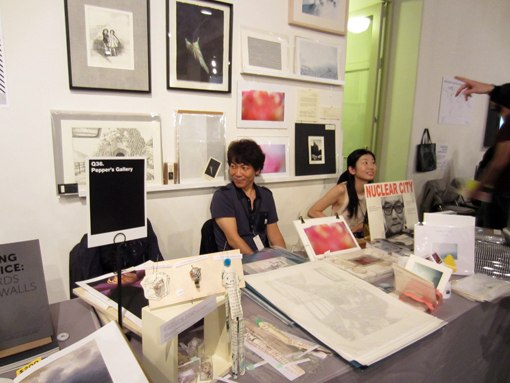 "THE NY ART BOOK FAIR_report2 ""Pepper\'s Gallery Booth\""_c0096440_19335085.jpg"