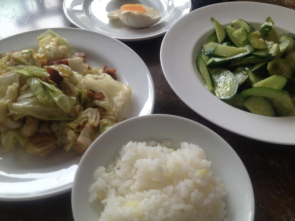 今日は生姜ご飯、回鍋肉、塩卵o(^▽^)o_f0070743_14411517.jpg