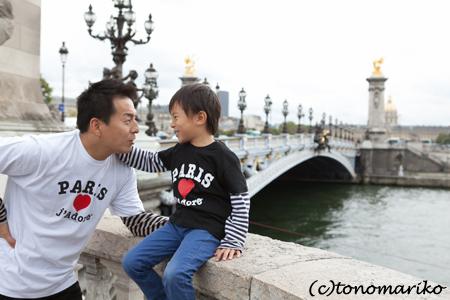 パリ最後の日。家族の記念写真を撮って空港へ!_c0024345_5184677.jpg