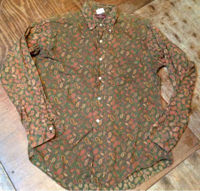 60ー70年代 ペイズリー柄B.Dシャツ_c0144020_23252711.jpg