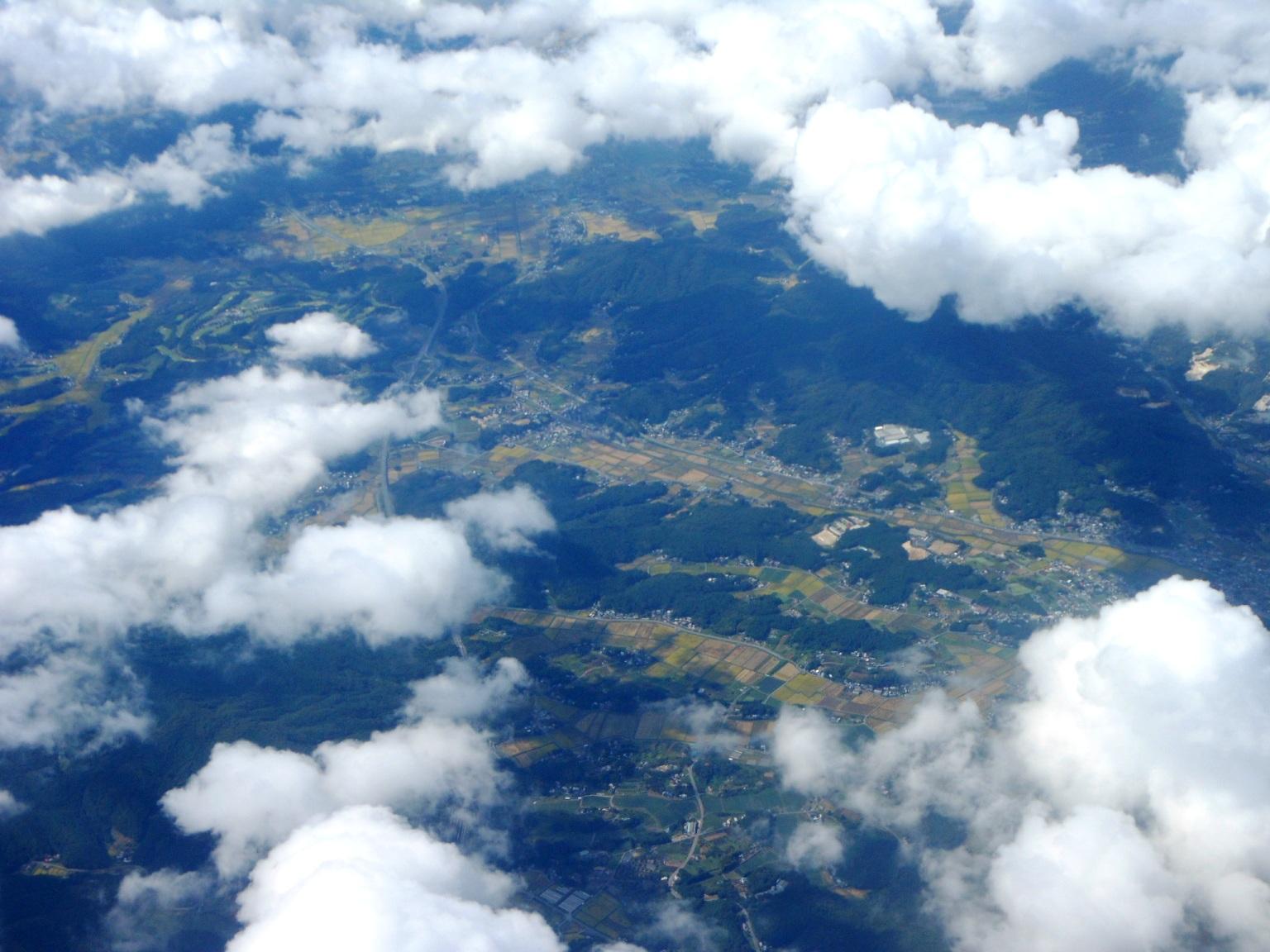 1823) ①「金沢3泊4日旅行 『飛行機からの眺め』」_f0126829_78648.jpg