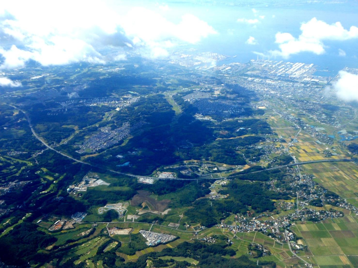 1823) ①「金沢3泊4日旅行 『飛行機からの眺め』」_f0126829_8552072.jpg