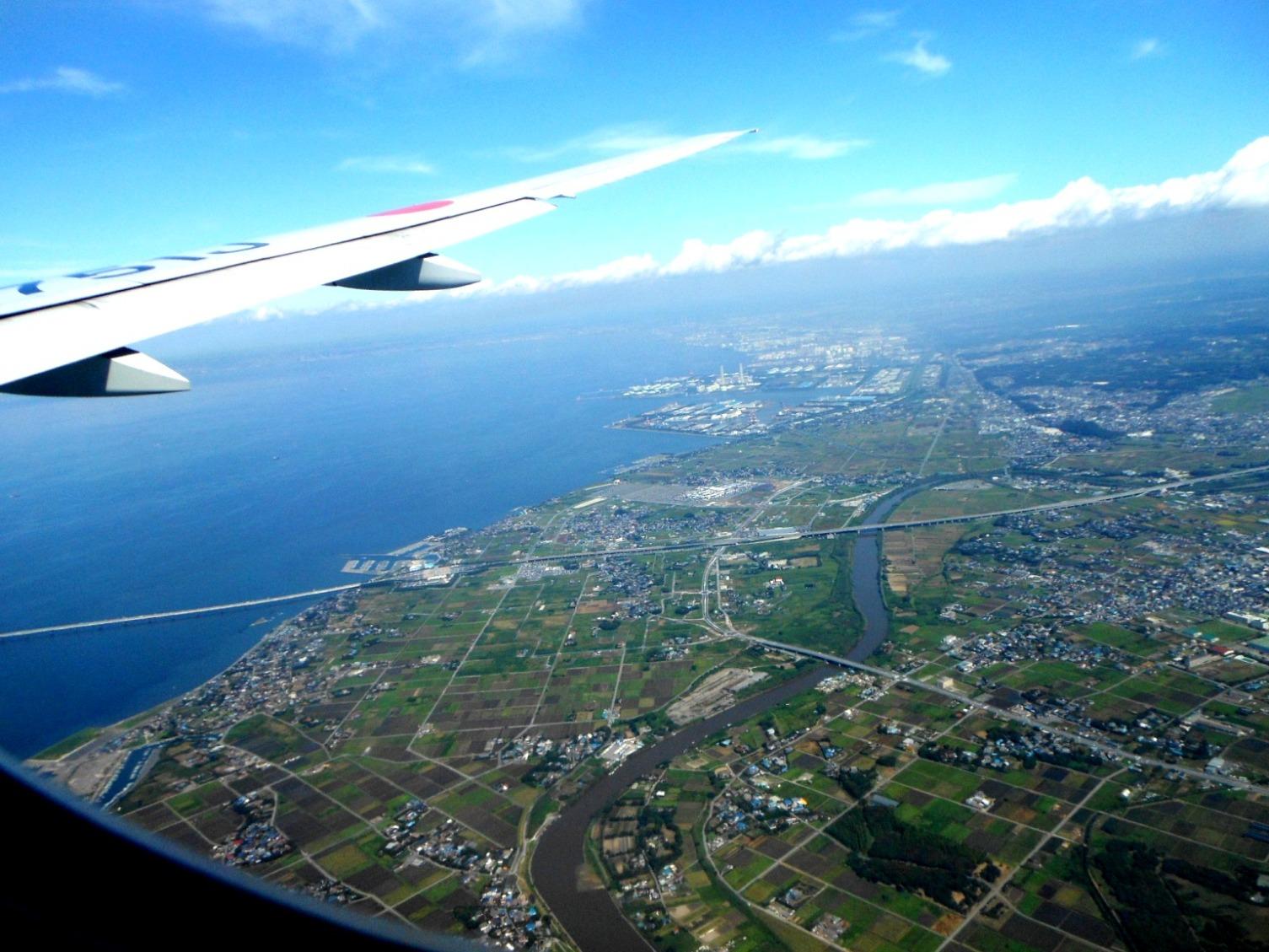 1823) ①「金沢3泊4日旅行 『飛行機からの眺め』」_f0126829_922052.jpg