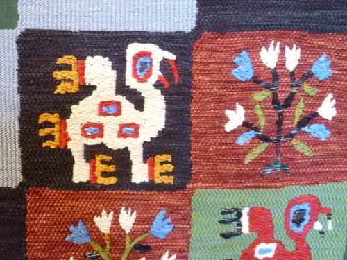 手織袋帯 インカの鳥格子文  <工芸帯地 洛風林の帯>_d0159384_1712428.jpg