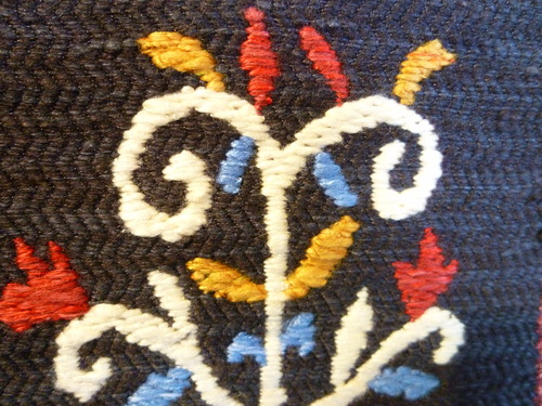 手織袋帯 インカの鳥格子文  <工芸帯地 洛風林の帯>_d0159384_17142017.jpg