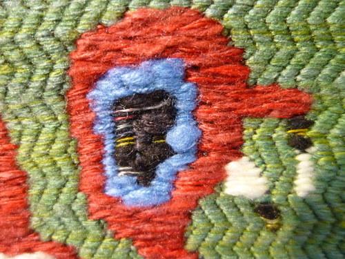 手織袋帯 インカの鳥格子文  <工芸帯地 洛風林の帯>_d0159384_17154135.jpg