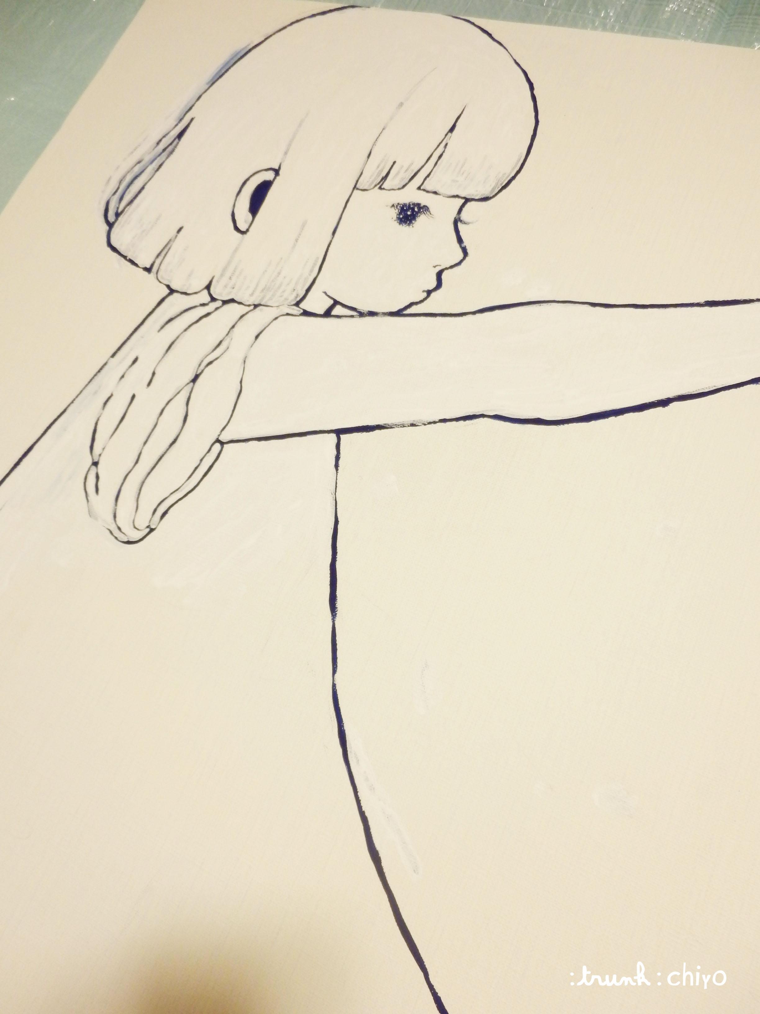 【制作途中】真夜中の女の子_f0223074_10475969.jpg