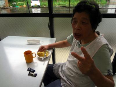 9/30喫茶でスイートポテト_a0154110_12571264.jpg