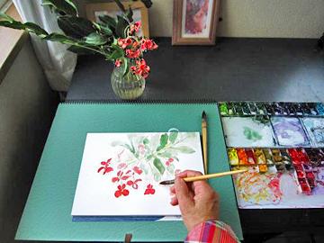 「水彩画Misako花のパレット」のMisakoさん登場!_c0039735_23572195.jpg