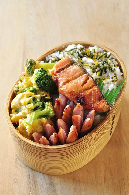 塩鮭とブロッコリーのお弁当_b0171098_86503.jpg