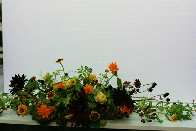 一会定期スクール9月 祭壇装花またはメインテーブル装花2_a0042928_18391963.jpg