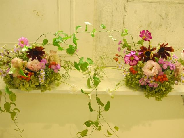 一会定期スクール9月 祭壇装花またはメインテーブル装花2_a0042928_1840274.jpg