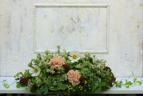 一会定期スクール9月 祭壇装花またはメインテーブル装花2_a0042928_18404951.jpg