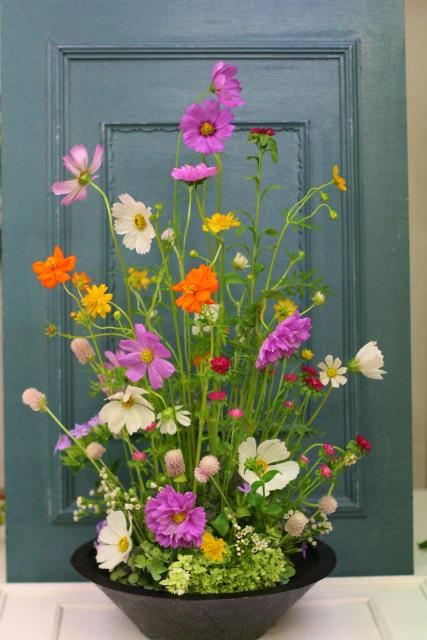 一会定期スクール9月 祭壇装花またはメインテーブル装花3_a0042928_18515151.jpg