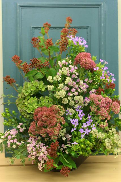 一会定期スクール9月 祭壇装花またはメインテーブル装花3_a0042928_1852123.jpg