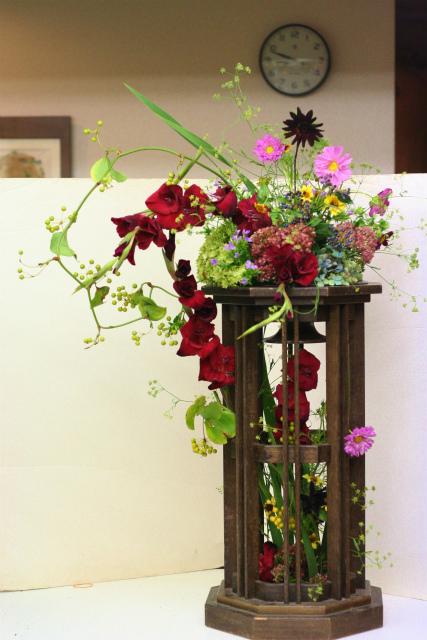 一会定期スクール9月 祭壇装花またはメインテーブル装花3_a0042928_18522946.jpg