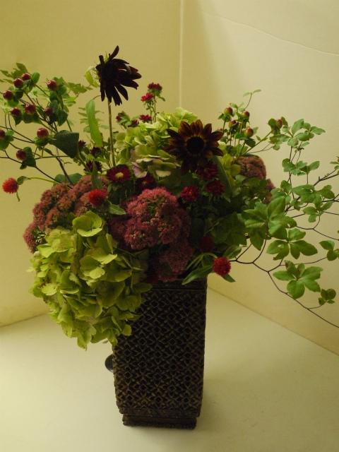 一会定期スクール9月 祭壇装花またはメインテーブル装花3_a0042928_18534287.jpg