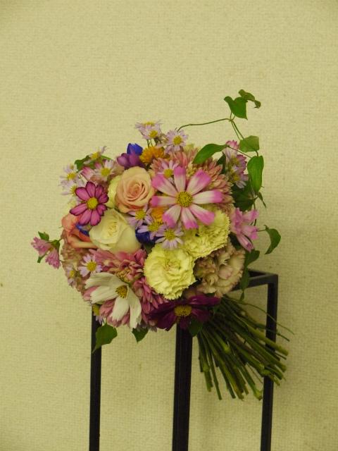 一会定期スクール9月 祭壇装花またはメインテーブル装花3_a0042928_18535349.jpg