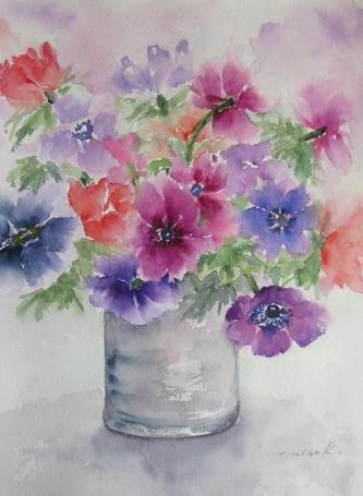 「水彩画Misako花のパレット」のMisakoさん登場!_c0039735_011740.jpg