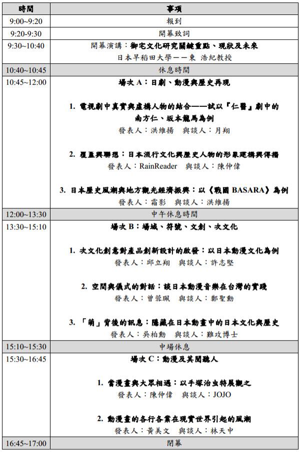 日本動漫的現代社會文化意涵:研討會與議程_c0073742_23402084.jpg