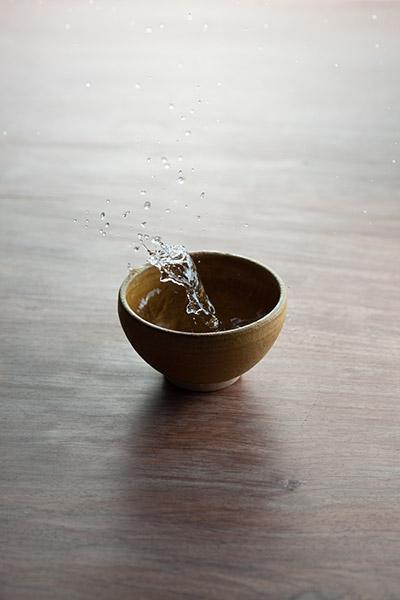 2012/10/04 黄瀬戸の茶碗を頂いたので_b0171364_9563448.jpg