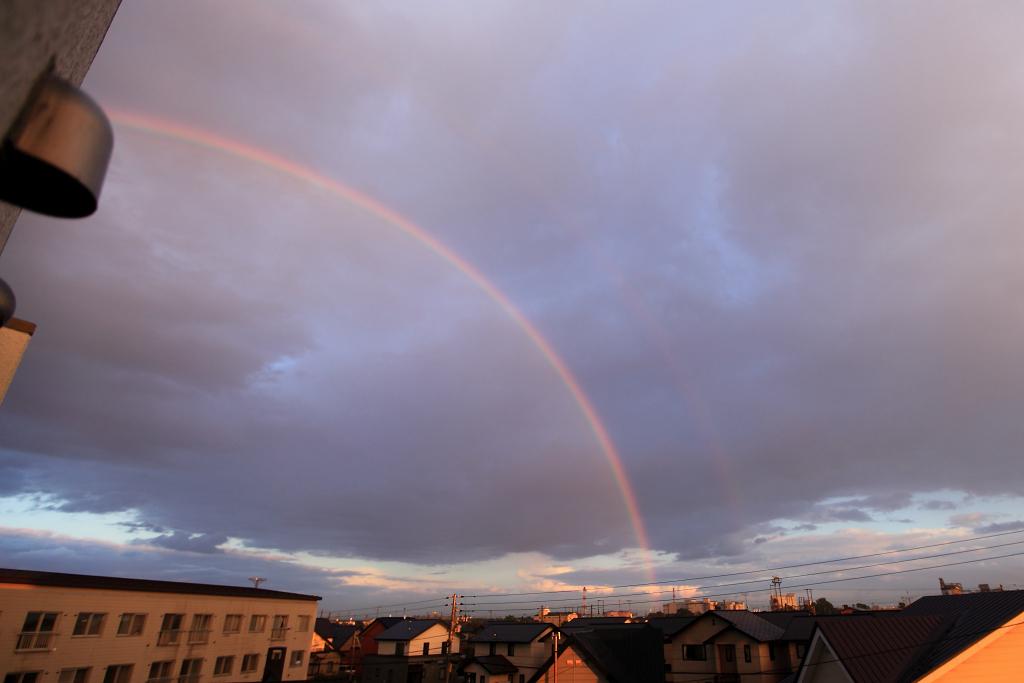 雷雨の後に 虹_a0160581_17271994.jpg
