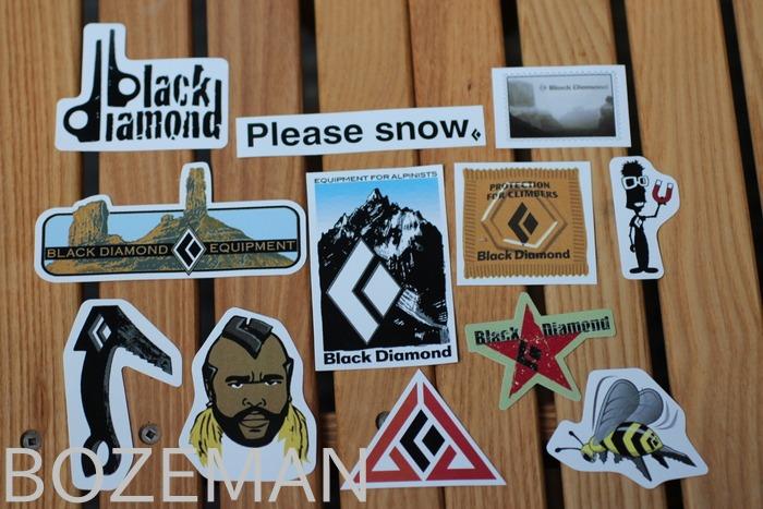 Black diamond climbing sticker package