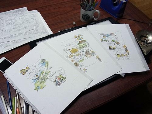 連休はイラスト描きに秋祭り_f0236291_14432135.jpg