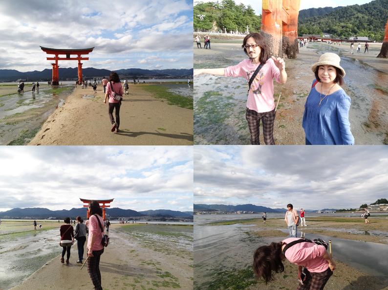 厳島神社の大鳥居に近づくところ_d0119642_11493912.jpg