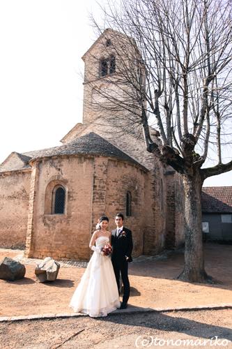 13世紀の小さな教会で… シャトーウェディング_c0024345_7442570.jpg