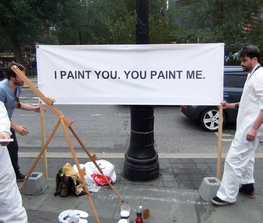 ニューヨークの街角アート実験 I PAINT YOU. YOU PAINT ME._b0007805_23185768.jpg