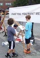 ニューヨークの街角アート実験 I PAINT YOU. YOU PAINT ME._b0007805_23192348.jpg
