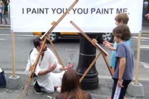 ニューヨークの街角アート実験 I PAINT YOU. YOU PAINT ME._b0007805_2320126.jpg