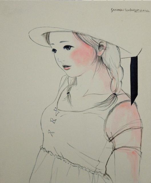 2012/11/21-26  進川桜子展 永遠の少女達 - 記憶の中の肖像- 【絵画】_e0091712_15144666.jpg