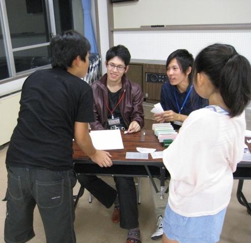 青少年研修センターにおける「ふれあい合宿」にて、2つのワークショップを行いました。_c0167632_160471.jpg