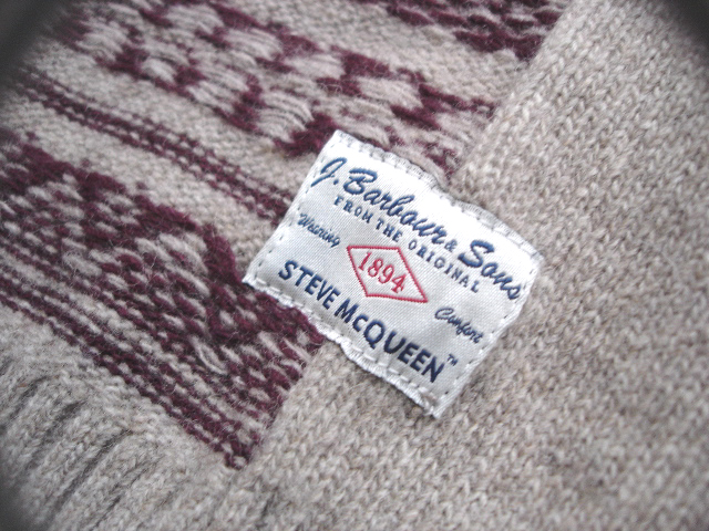 NEW : Barbour The Steve McQueen™ Collection 2012 F/W [PART-2] [Chase Fairisle Cardi] !!_a0132147_0293143.jpg