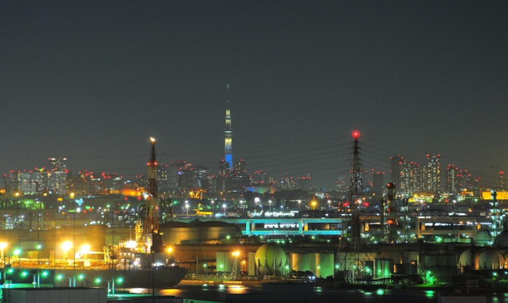 東扇島埠頭から観た夜景_a0150260_0204667.jpg
