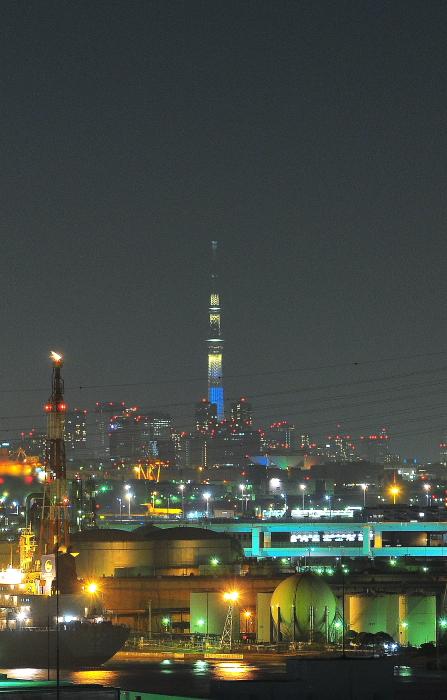 東扇島埠頭から観た夜景_a0150260_0454810.jpg