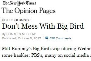 今、アメリカ大統領選挙の主役はなんとあのビッグ・バード?!_b0007805_6252526.jpg