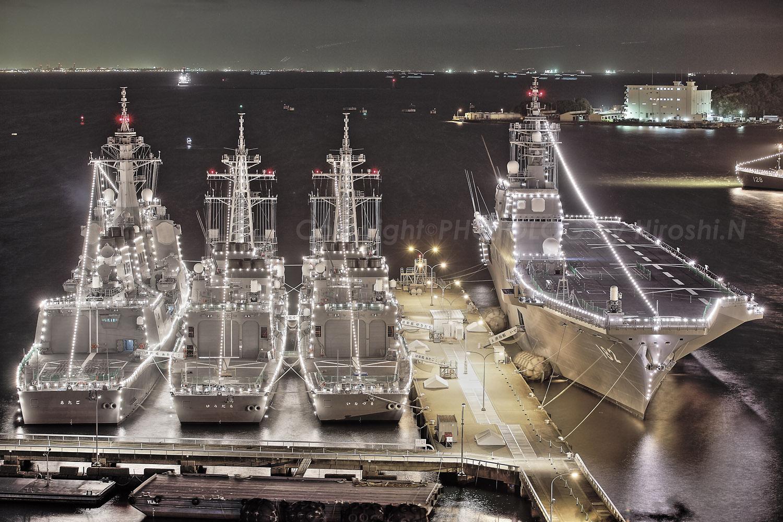 2012/10/10 Wed. JMSDF Yokosuka 電灯艦飾_b0183406_22484594.jpg